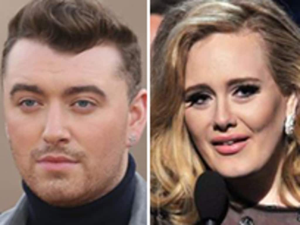 Sam Smith (L) also had a No. 1 with his Bond theme song, while Adele also had a hit. But Billie Eilish has outdone them both. Picture: Supplied