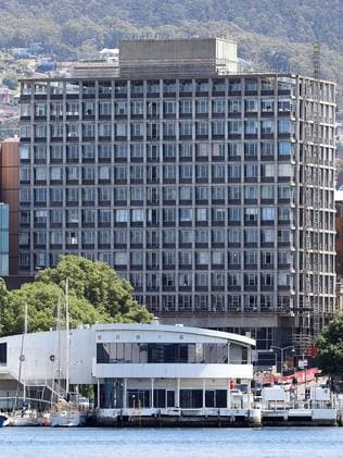 Debate has raged for years over demolition of the State Government office building at 10 Murray St in Hobart. Picture: SAM ROSEWARNE