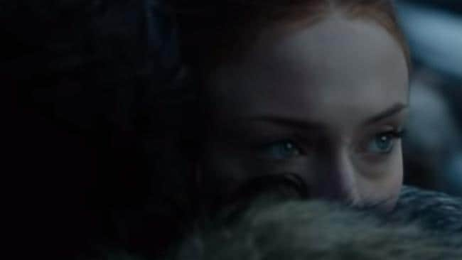 Who's the target of Sansa's stink-eye?
