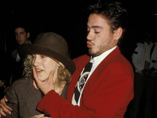 Sarah Jessica Parker and Robert Downey Jr. leaving Saturday Night Live in October 1987.