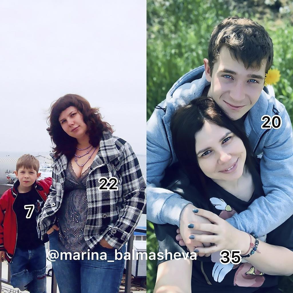 She raised him from the age of seven when she married his dad and fell in love 13 years later. Picture: Instagram/marina_balmasheva