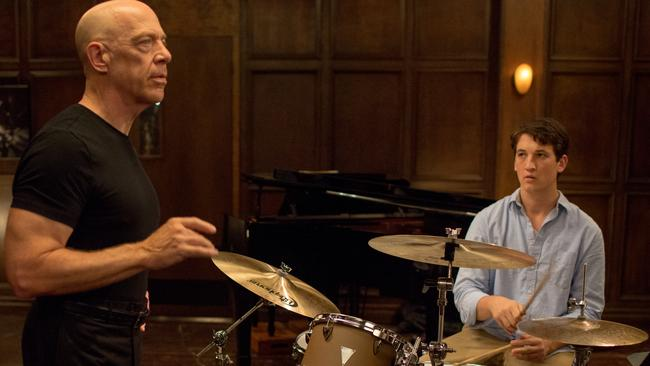Life lessons ... Simmons and Miles Teller in Whiplash. Picture: Supplied