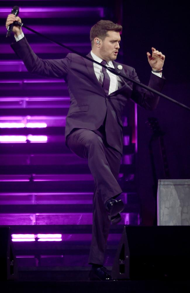 Michael Buble in concert this week. Picture: Naomi Jellicoe