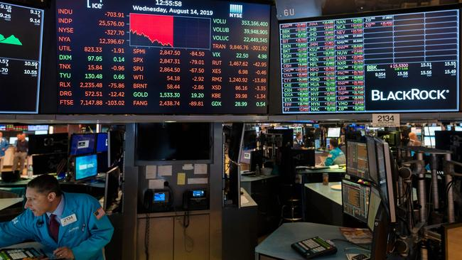 Stocks and oil prices in the US plummeted massively overnight. Picture: Johannes Eisele/AFP