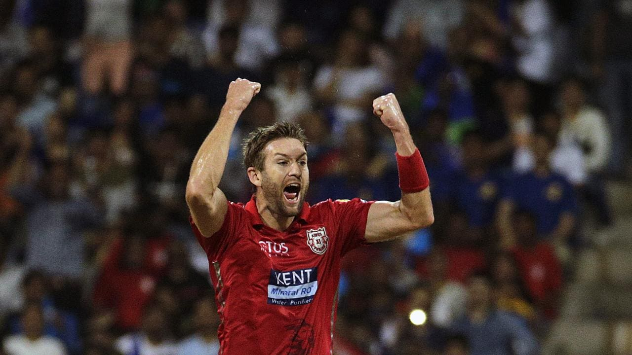 Australia's Andrew Tye on his way to a 24-wicket season in the Indian Premier League