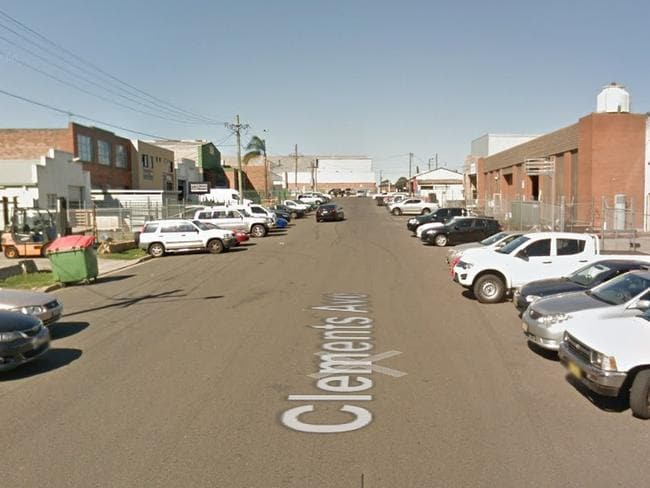 Clements Ave, Bankstown, where a worker was seriously injured. Picture: Google maps