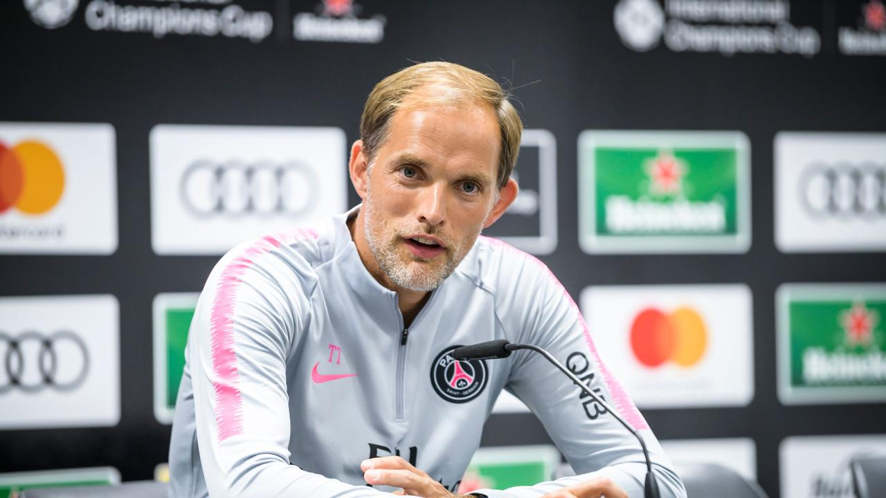 Image result for Thomas Tuchel with Kylian Mbappe