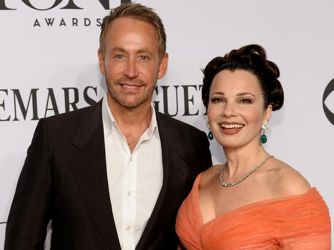 Peter Marc Jacobson and actress Fran Drescher in 2014. Picture: Dimitrios Kambouris/Getty Images for Tony Awards Productions.