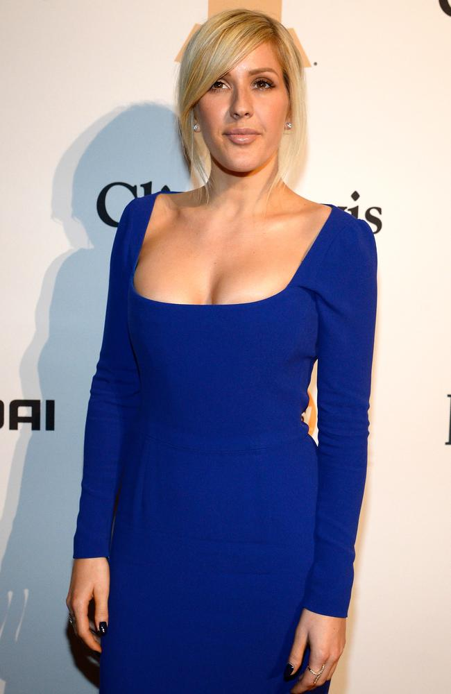Goulding is a vision in blue — but some are speculating her new look is the result of some surgical help. Picture: Getty