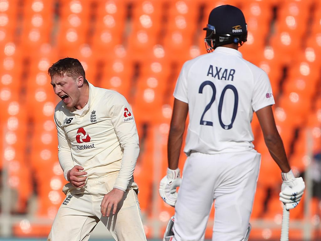 Dom Bess had a frustrating day with the ball. Surjeet Yadav