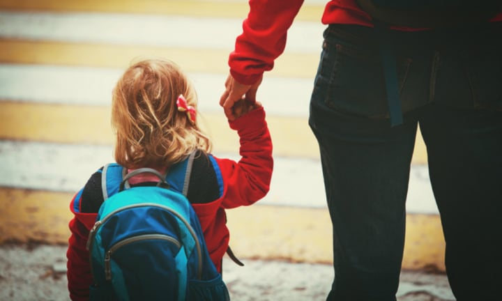 Mum's horror as stranger grabs two-year-old on school run