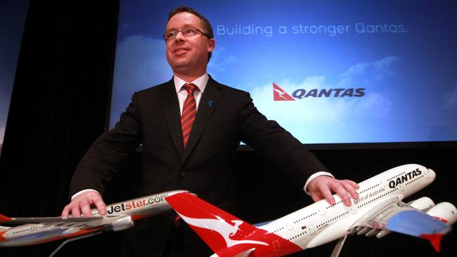 Qantas boss Alan Joyce said his Order of Australia was recognition of the work of everyone at Qantas. Picture: News Corp Australia