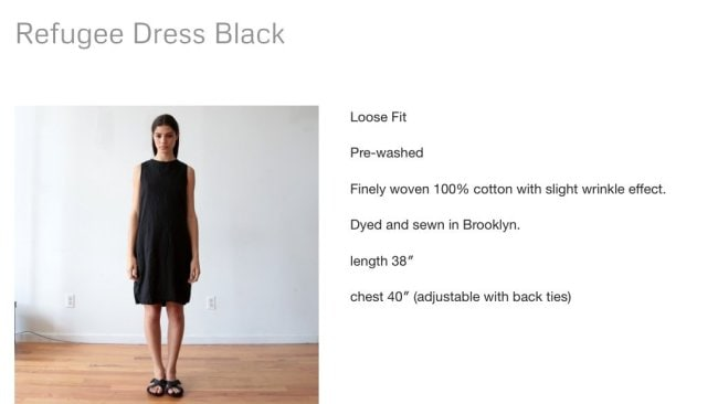 The dress that has caused a social media storm. Image: UZI NYC