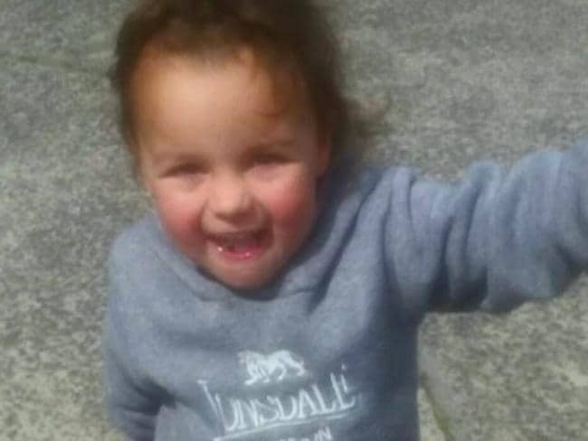 Three-year-old Indy Lee was killed when a stone monument fell on her at a bowling club on the NSW Mid-North Coast. Picture: Channel 7