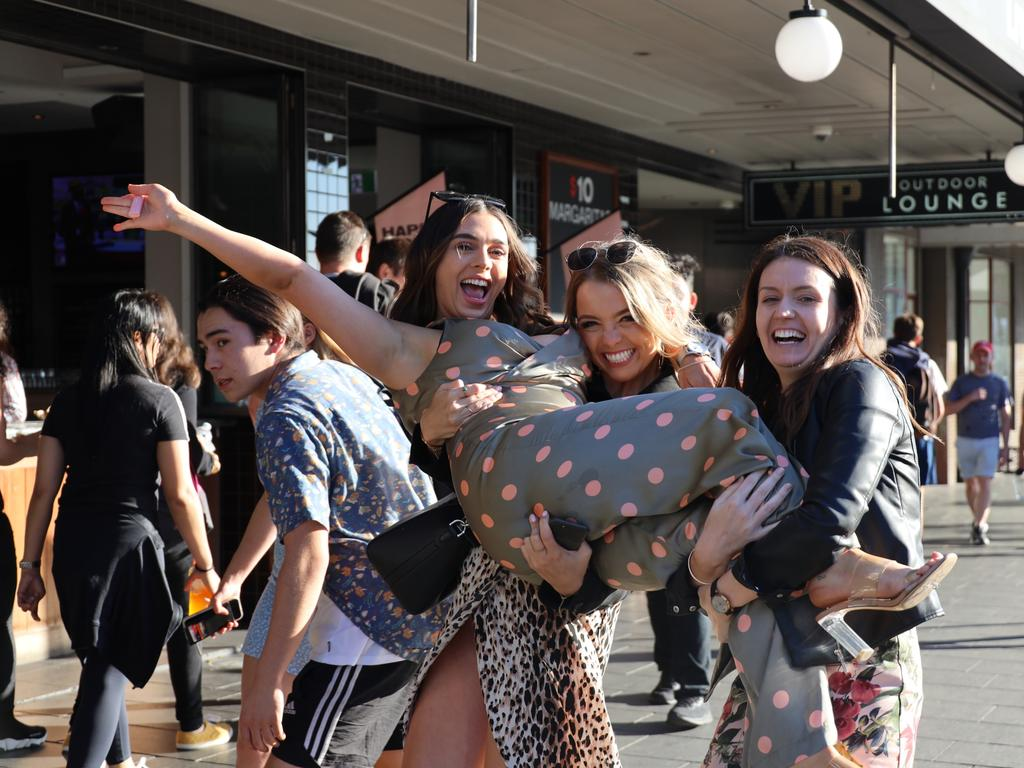 Punters out and about for Melbourne Cup day in Sydney's Newtown.