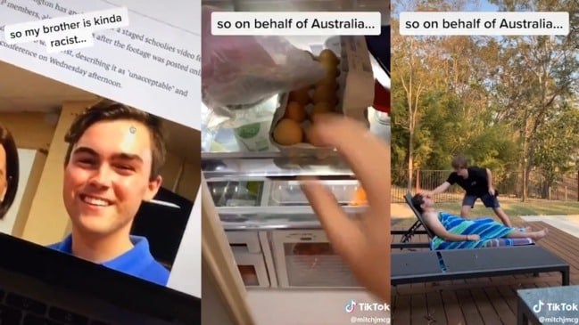 TikTok video shows Young LNP head Barclay McGain egged by brother