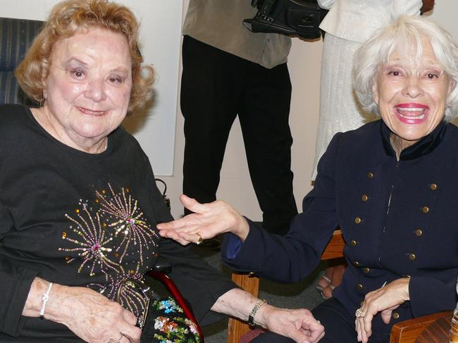 Carol Channing and Broadway and TV star Rose Marie. Picture: Splash