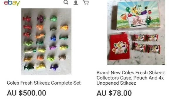 Stckeez are being sold at outrageous prices. Picture: Supplied