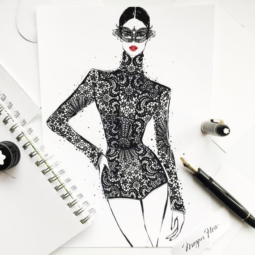 Fashion Illustrator Megan Hess On How Drawing Dresses