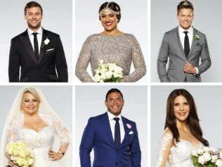 The cast of the 2018 season of Married At First Sight Australia. Source:Channel 9