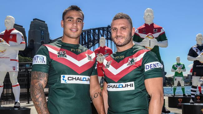 Lebanon players Robbie Farah (right) and Michael Lichaa.