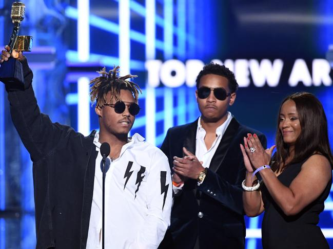 Juice WRLD received the Top New Artist award at the 2019 Billboard Music Awardsin May. Picture: Getty Images