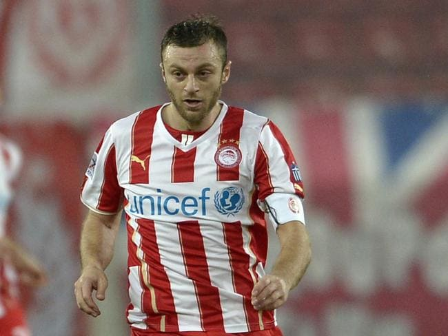 Avraam Papadopoulos at Olympiacos in 2014.