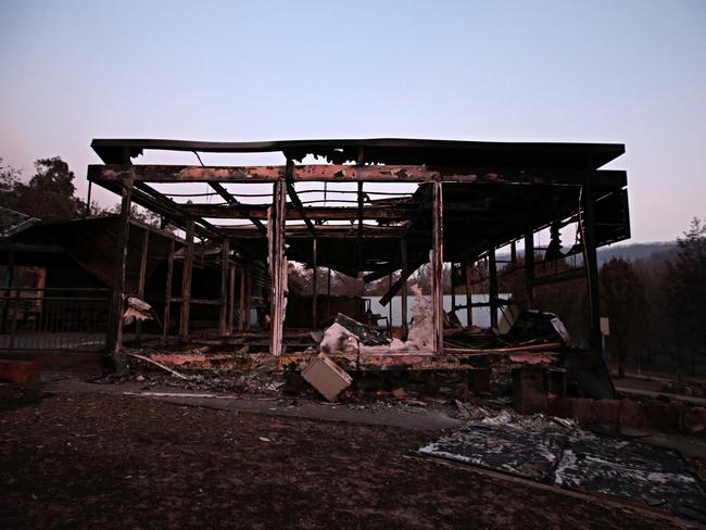 Wytaliba public school devastated after bushfires ripped through the small community. Picture: Adam Yip