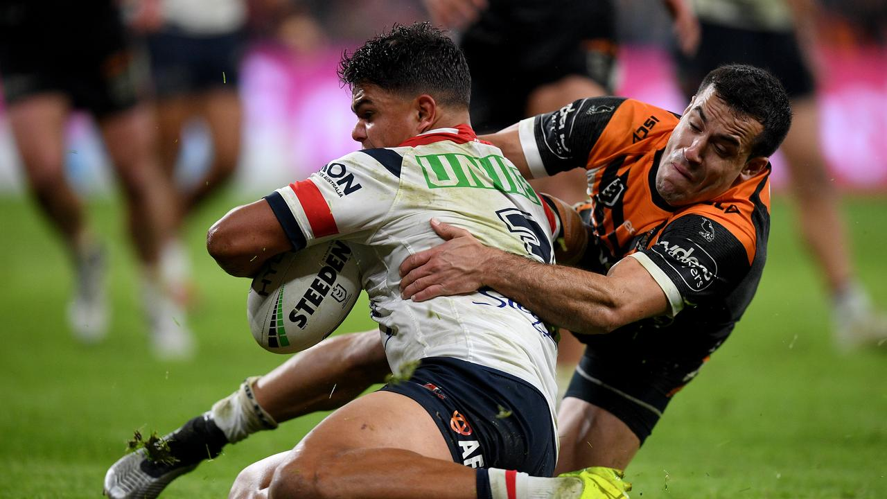 The Tigers have emerged as a suitor for Latrell Mitchell.