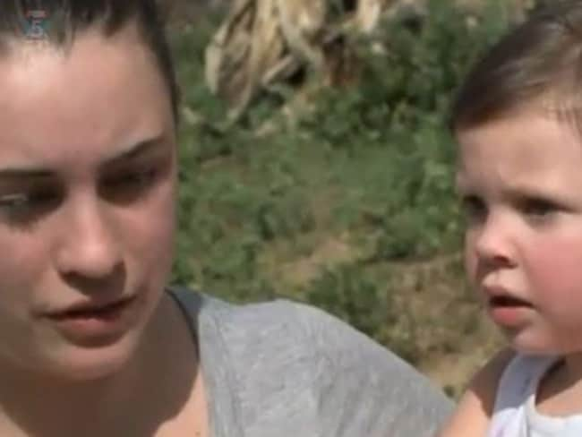 Grateful ... Alissa Jenkins with daughter, Emma, who was saved by Kiera Larsen. Picture: Fox 5