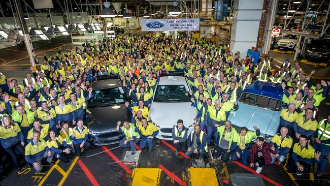 Last Ford Falcon ute at Broadmeadows production line