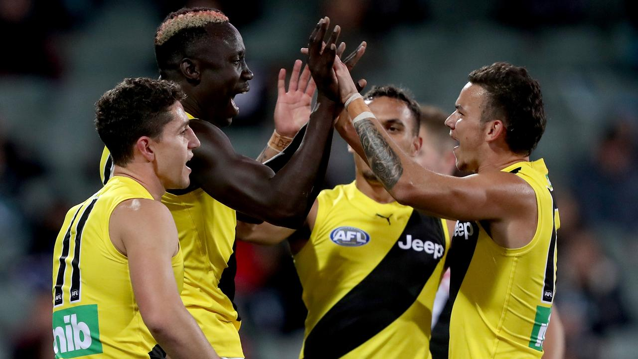 Mabior Chol has shown plenty of promise in 2020 (Photo by James Elsby/AFL Photos via Getty Images).