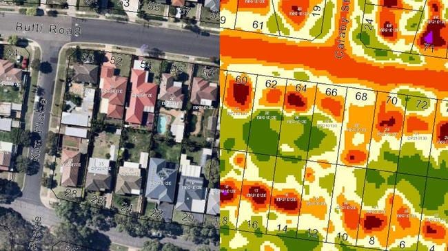Australian suburbs most vulnerable to extreme heat