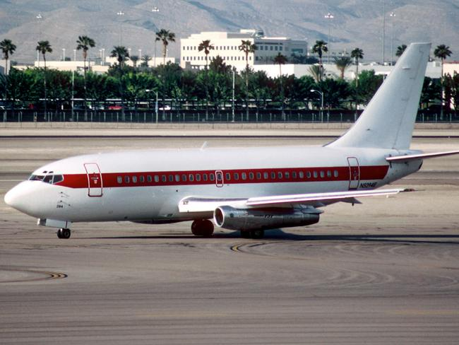 Janet's secret aircraft seen at Las Vegas airport in 2003. Picture: Aero Icarus/Creative Commons