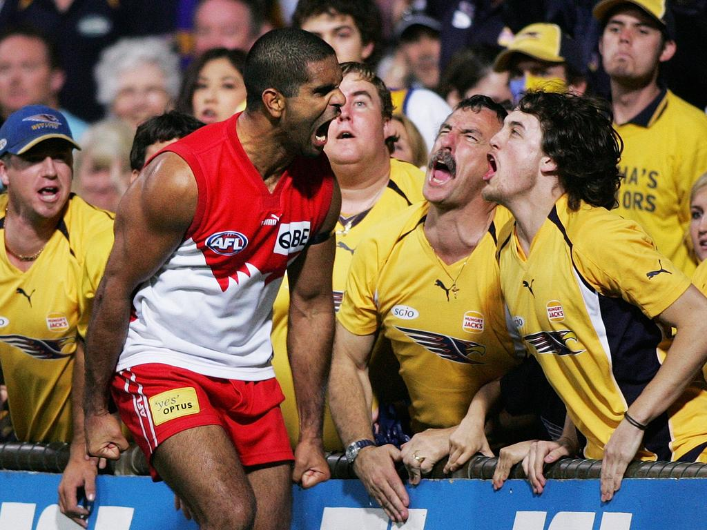 Michael O'Loughlin's match-winning goal from 2006 is one of the most celebrated photographs in footy history. Picture: Phil Hillyard