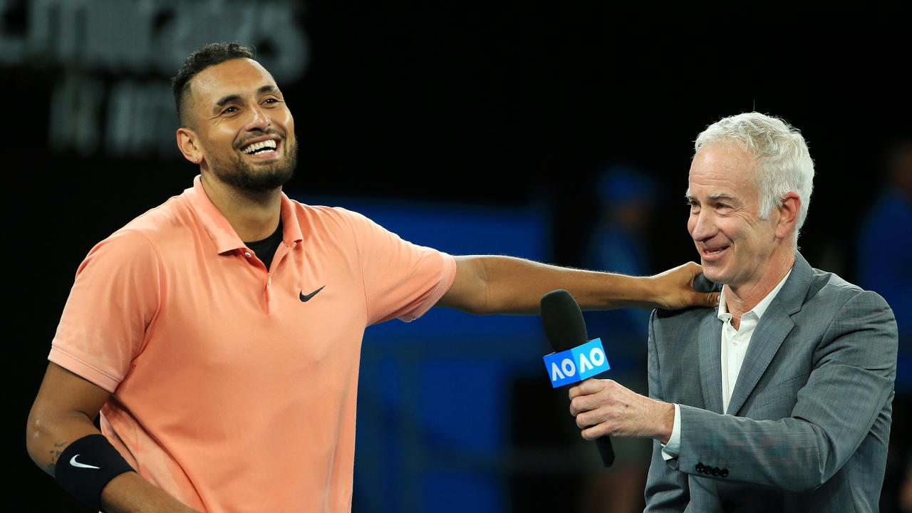 If Nick Kyrgios ever wants a coach, he could have one in John McEnroe.