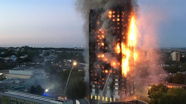 The Grenfell fire shocked people around the world. Picture: Natalie Oxford/AFP