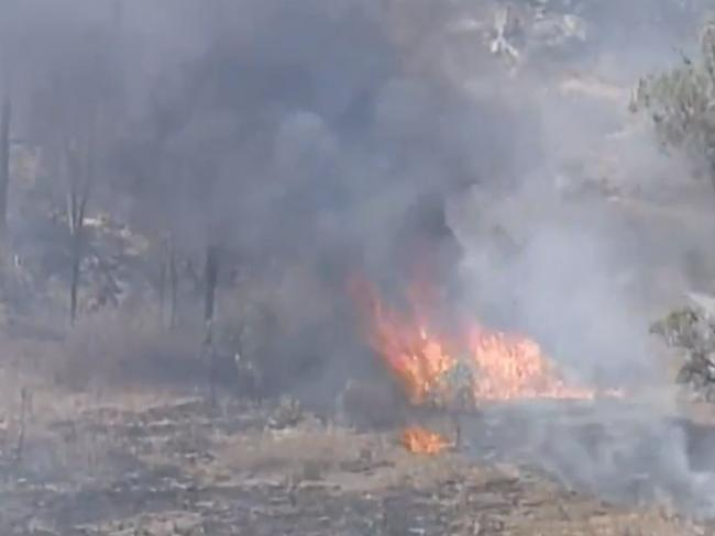 Residents have been told to flee the area. Picture: Channel 9