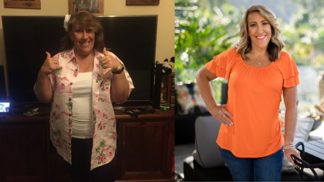 René Bligh's before and after losing 40kg. Images: Supplied