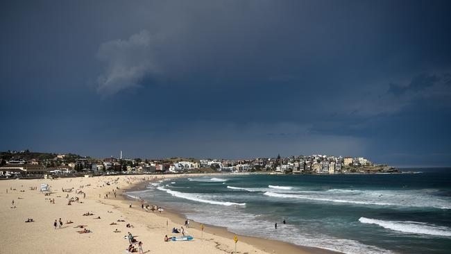 The couple were at North Bondi when the tragedy occurred. Picture: Bianca De Marchi