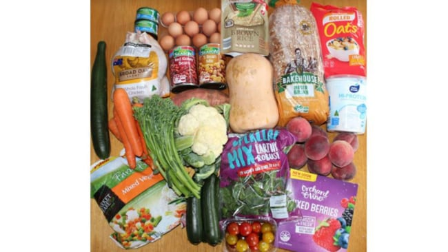 Image: Supplied. This is what dietitian Melissa bought at ALDI with $50.