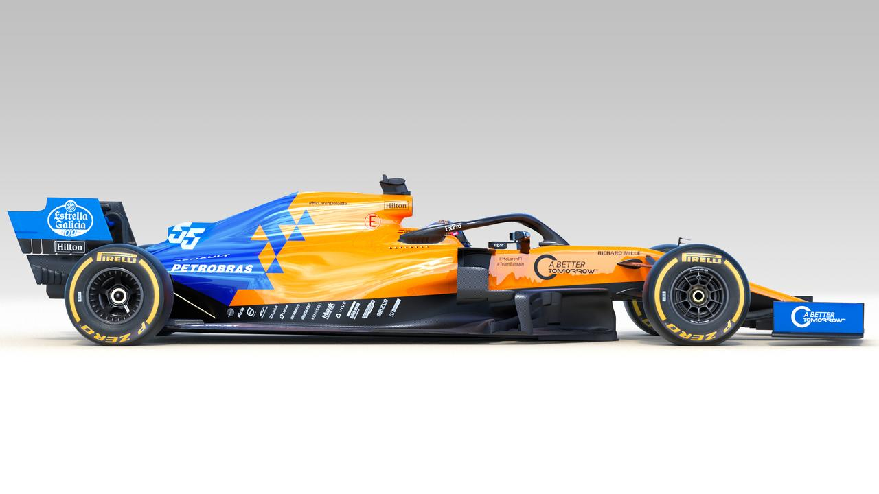 The new McLaren livery has some extra blue to add to the papaya.