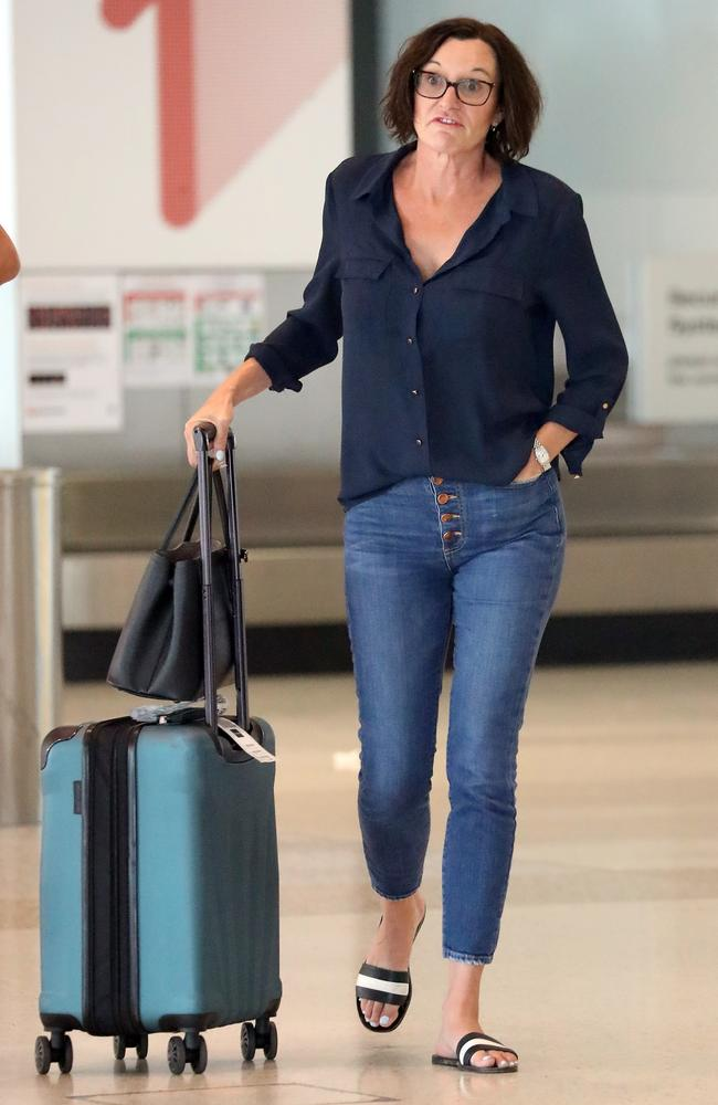 Cassandra Thorburn at Sydney airport on Sunday. Picture: Diimex
