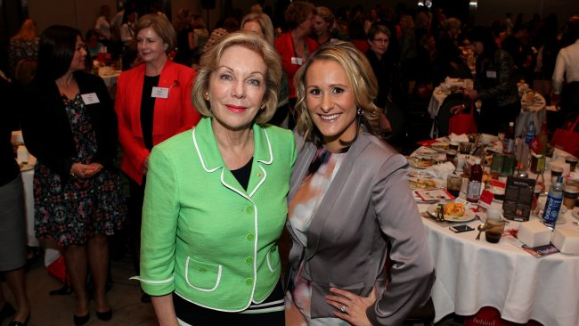 Ita Buttrose and Emma Issacs circa 2013.