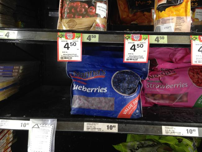Frozen berries were pulled from shelves across the country in February. Picture: Bradley Hunter