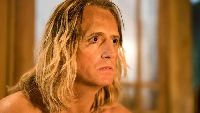 Linus Roach plays cult leader Jeremiah Sand in Mandy.