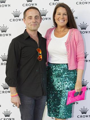 Julia Morris with her husband Dan Thomas.