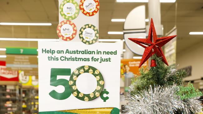 Woolworths OzHarvest Christmas Appeal asks customers to donate 50 cents for food relief. Picture: supplied.