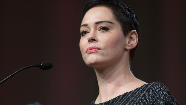 Outspoken US actor Rose McGowan. Picture: AFP