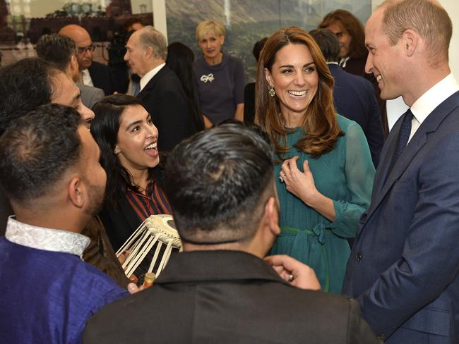 Britain's Prince William and Kate, Duchess of Cambridge visit the Aga Khan Centre, in London, Wednesday Oct. 2, 2019. (Jeff Spicer/Pool via AP)